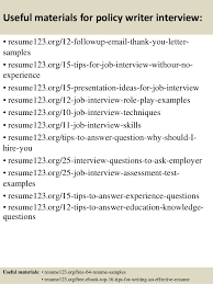 top 8 policy writer resume samples