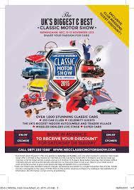 2015 lancaster insurance classic motor show 13 15 november