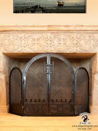 Arched Fireplace Doors by Fireplace Doors Dragon Forge Colorado Blacksmith Custom Hand