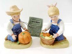 Home Interior Denim Days Figurines by Vintage Figurine Homco Denim Days Holiday Sleds Figurines By
