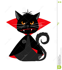 witch costume for cats cat vampire in dracula carnival costume vector mascot stock vector