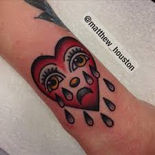 10 timeless crying heart tattoos tattoodo