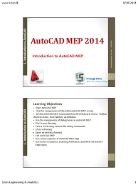 introduction to autocad mep auto cad autodesk
