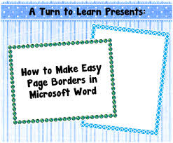 classroom freebies how to make easy page borders in microsoft word