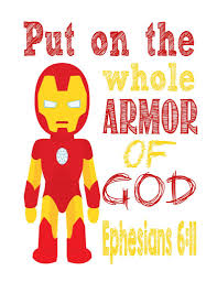 ironman christian superhero nursery decor art print ephesians 6