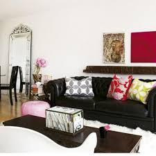 living room design with black leather sofa 1000 ideas about black