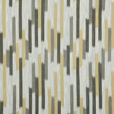 grey yellow woven ikat upholstery fabric charcoal grey geometric