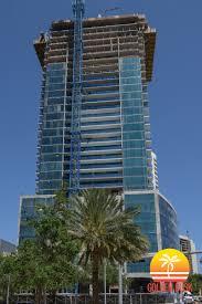 echo brickell reaches 32nd floor of construction u2014 golden dusk