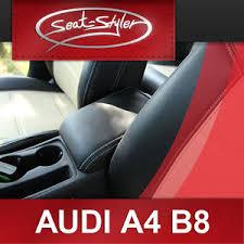 housse siege de voiture personnalisé audi a4 b8 cuir veritable housse de sieges voiture personnalises ebay