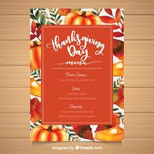 beau modèle de menu de thanksgiving aquarelle télécharger des