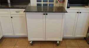 Kitchen Cabinet With Wheels by Kitchen Incredible Island Black Rolling Cabinet With Stainless