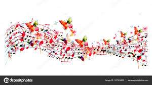 imagenes de notas musicales a color colores de fondo con notas musicales vector de stock abstract412