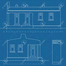 farm blueprints country farm house blueprint plans illustration royalty free