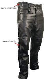 leather motorcycle pants xelement b7470 men s black premium leather motorcycle overpants with