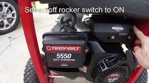 troy bilt 5550 watt generator starting oil change and storage
