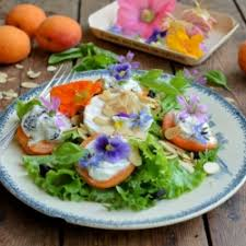 Salad With Edible Flowers - recipes with frisee lettuce feastie