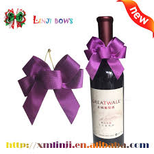 wine bottle bows 2016 new arrival ribbons for wine bottle bow tie wholesale fancy