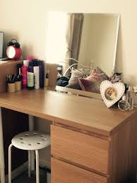Oak Vanity Table With Drawers Ikea Dressing Table To Match Malm Oak Range Used The Malm 3 High