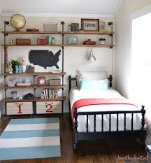 bedroom shelves industrial shelves for a boy s room beneath my heart