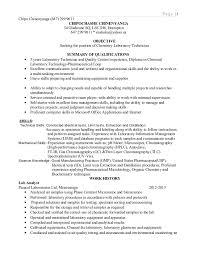 Lab Experience Resume Chemistry Resume Lab Skills Eliolera Com