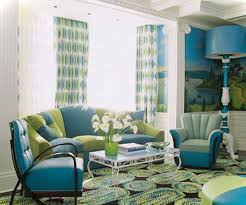 Green Living Room Chair by Brilliant Green And Blue Living Room Home Design Ideas