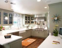 Grey And Green Kitchen Grey Green Kitchen With Playful Retro Color Splashes For My