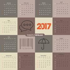 Calendar 2018 Ai Template 2017 Calendar Cdr Ai Eps Vector Free Cdrai