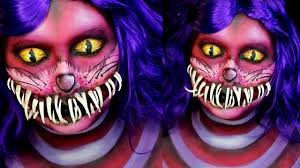 cheshire cat halloween makeup tutorial jordan hanz alice in