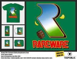 rareware donkey kong country style t shirt by ronniearaya1 on