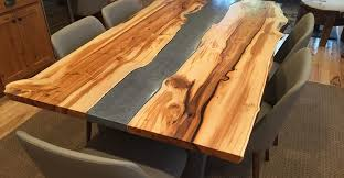 concrete wood table top yew table concrete table site crafthammer design seattle wa make