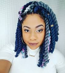 hair style with color yarn braid color combo inspiration for summer box braids bob crochet