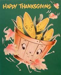 vintage anthropomorphic thanksgiving greeting card cards of all