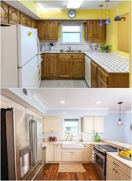 peinturer armoire de cuisine en bois peinture armoire cuisine relooking cuisine bois en 18 photos avant