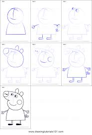 how to draw peppa pig from peppa pig printable step by step