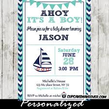 nautical baby shower invitations navy and turquoise nautical baby shower invitation personalized