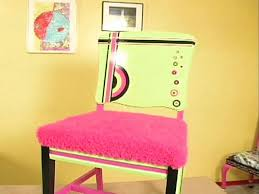 how to make a handpainted funky wood chair hgtv