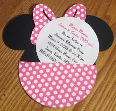 colors lovely minnie mouse birthday invitations templates ideas