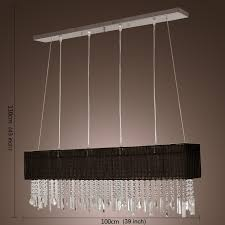 Dining Lamps Lightintheboxstylish Pendant Light With Black Fabric Shade Modern