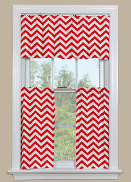Curtains Chevron Pattern Chevron Style Kitchen Curtain In Red And White