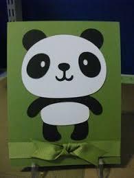 handmade panda greeting card happy birthday cards pinterest
