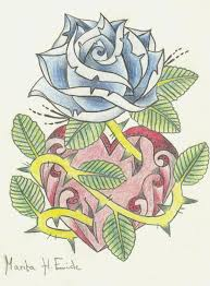 rose n u0027 heart tattoo by mixxymess on deviantart