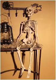 plastic bony skeleton affordable halloween decorations