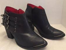 womens black leather boots size 11 jeffrey cbell schuyler black boots womens size 11 m ebay