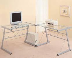 best glass l shaped computer desk image