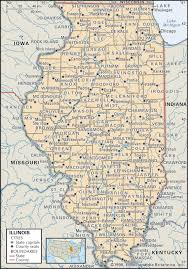 Virginia Map With Cities State And County Maps Of Illinois
