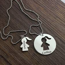 name necklace pendants images Engraved mother daughter name necklace set silver mom daughter jpg