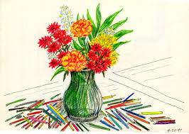 deborah vel squez may flower challenge day eight sketches to