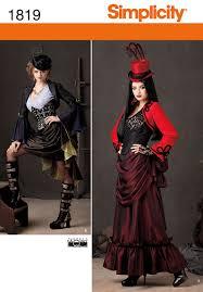 Simplicity Halloween Costumes Simplicity 1819 Misses Costume Steampunk Steampunk Costume