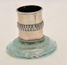 glass dreidel antique glass dreidel sterling silver 925 springnahal