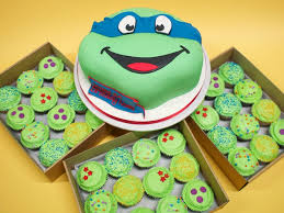 tmnt cake mutant turtle cake cupcakes crumbs doilies